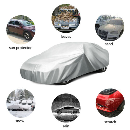 Foldable Waterproof Snow Wind Dust Resistant UV Outdoor Full  Auto Car Cover L