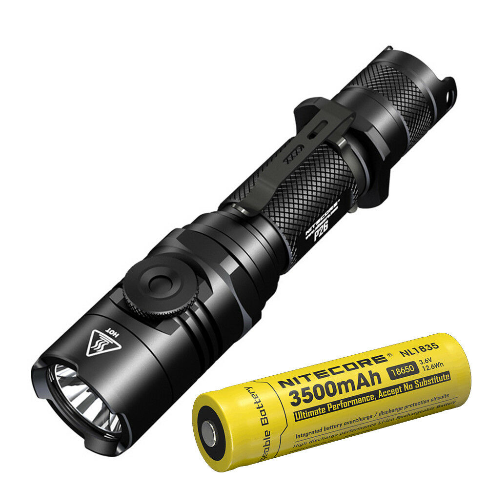 NITECORE P26 1000Lumens Infinite Brightness Tactical LED Flashlight w  NL1835