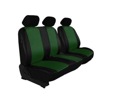 Per FORD TRANSIT CUSTOM di alta qualità paßgenaue Coprisedili Ecopelle Verde.