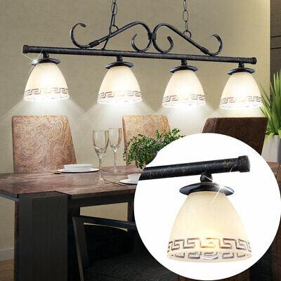 H/änge Lampe Wohn Ess Zimmer Decken Pendel Leuchte Glas rost-farben Kronleuchter Globo 68840-3