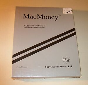 NEW MacMoney for Macintosh 512 Plus SE II XL