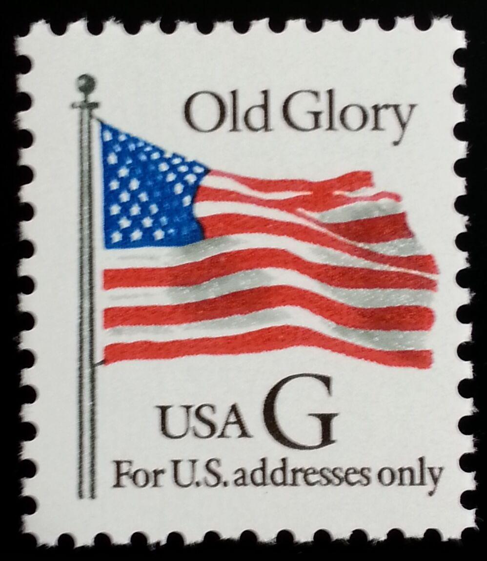 "1994 32c ""G"" Old Glory, Black G Scott 2881 Mint F/VF NH"