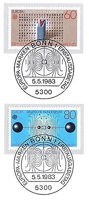 Aggressiv Brd 1983: Europamarken Nr. 1175+1176 Mit Bonner Ersttags-sonderstempel! 1a! 155