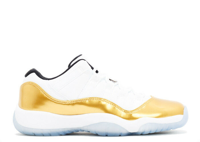 Nike air jordan retrò 11 bassa oro cerimonia di chiusura 528895-103 sz 8 a 14 olimpiadi