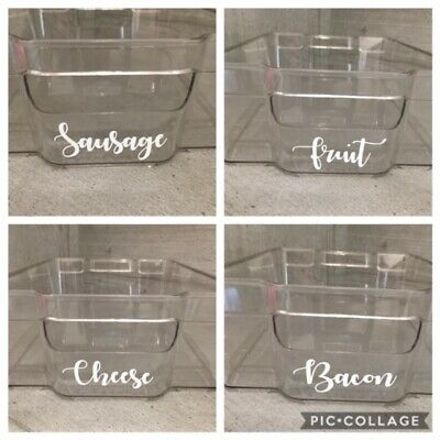 MRS HINCH INSPIRED JARS STORAGE TRAYS DRAWS CUPBOARD LABEL DECAL VINYL STICKERS