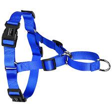 56-72cm Brust Hundegeschirr Brustgeschirr Nylon Softgeschirr Hunde-Geschirr Blau