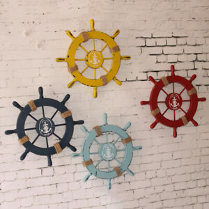 Nautical-Beach-Wooden-Boat-Ship-Wheel-Home-Bar-Wall-Party-Hanging-Decoration