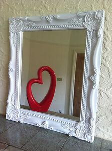 Shabby Chic Ornate Bathroom Wall Mirror Black White Resin Frame Wall Mirror