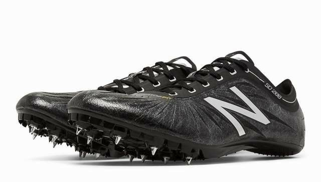 New Balance Mens MSD200BS Track Field Spikes Running shoes Black Silver Size 9.5