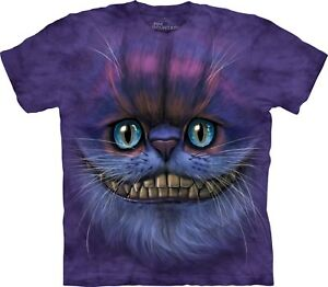 Unisex Face Mountain T Cat Adult Big Shirt Cheshire 4Yd1wq