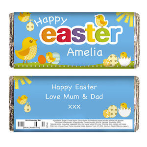 Personalised easter gift chocolate bar unique unusual easter present image is loading personalised easter gift chocolate bar unique unusual easter negle Images