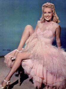Betty-Grable-1952-Vintage-Pinup-Litho-Frank-Powolny-Photo-Publicity-Promo-COA