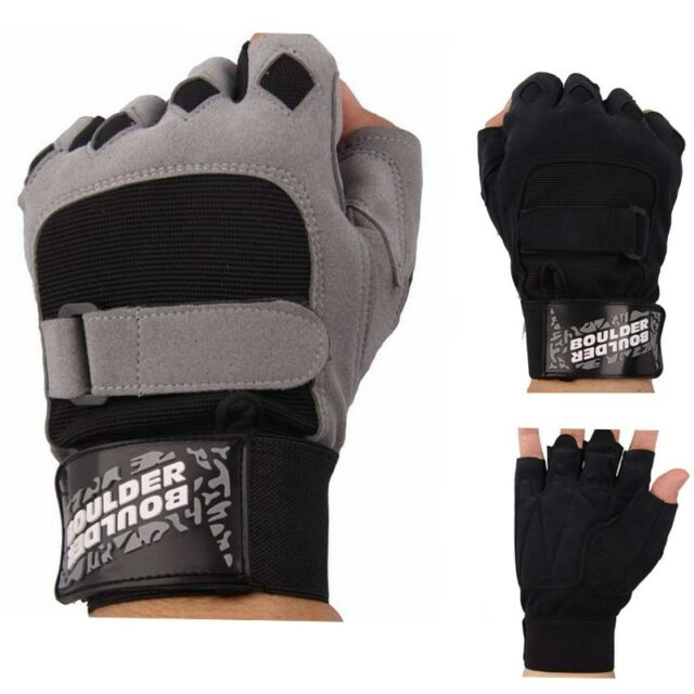 Men Weight lifting Gym Gloves Tactical Training Fitness Workout Sport Black Gray