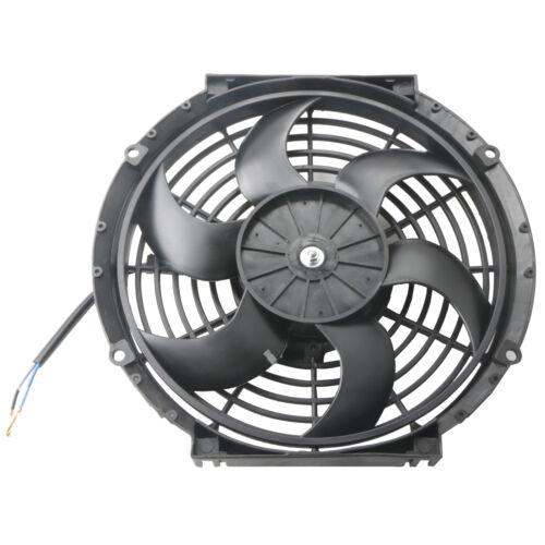 1X10 inch Universal Slim Pull Push Racing 12V Electric Radiator Cooling Fan