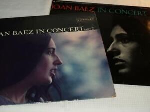 JOAN BAEZ, IN CONCERT, VOLS 1&2, EXCELLENT ORIGINAL VINYL ALBUMS