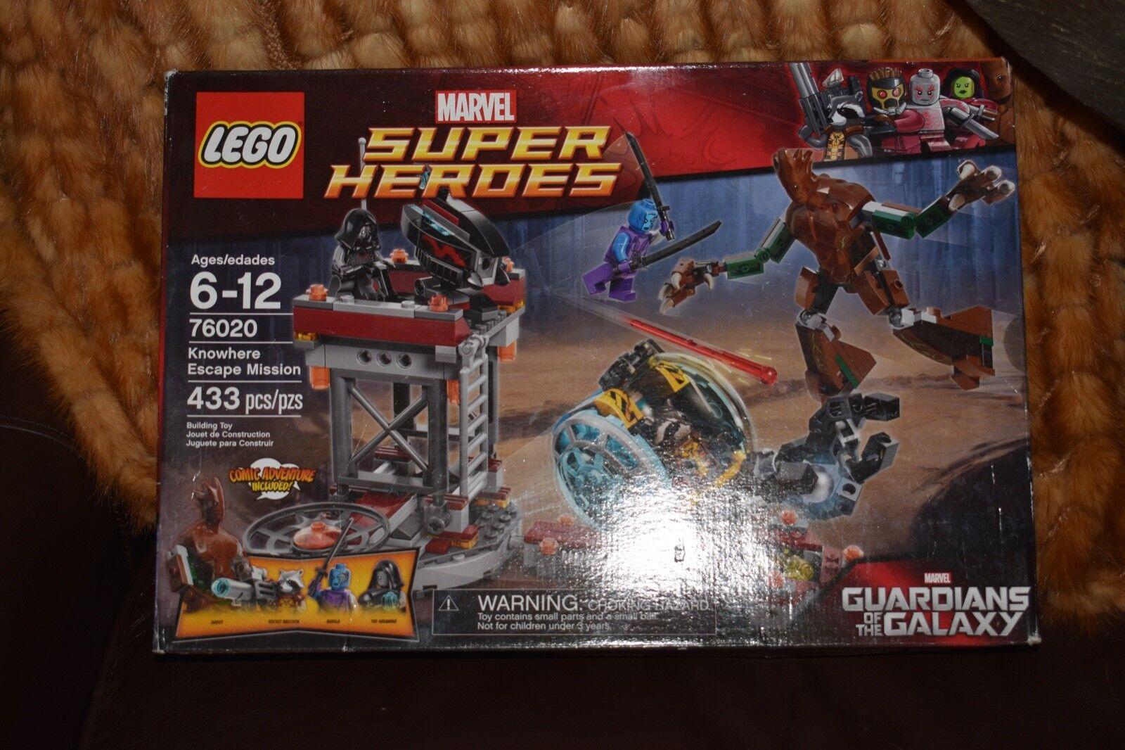 Lego 76020 súperheroes Knowhere Escape Mission Building Set Nuevo