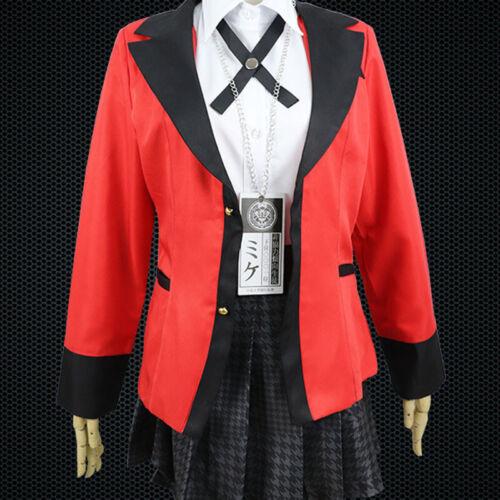 Animer Cosplay Kostüm Jabami Yumeko Setzt Überlegene Qualität Anime Convent M4W