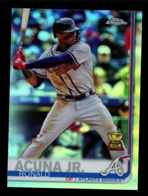 2019 Topps Chrome Refractor #117 RONALD ACUNA JR. Rookie Cup Atlanta Braves