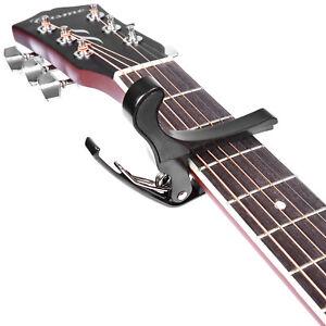 Neewer-Noir-Quick-Change-Tune-Clamp-Key-Capo-pour-Acoustique-Guitare-electrique