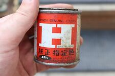 Vintage 4 oz Honda Paint Oil Tin Can Advertising Sign Garage Sign Motorcycle Car