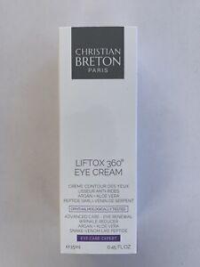 Detalles de Christian Bretón Ojo prioridad liftox 360 Crema de Ojos .45oz, Nuevo Sellado ver título original