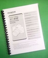 LASER PRINTED Olympus Camera Evolt E-410 E410 Manual User Guide 132 Pages