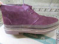 Clarks Bushacre Rand Burgundy Shoes Mens 11 Shoe Boots Suede