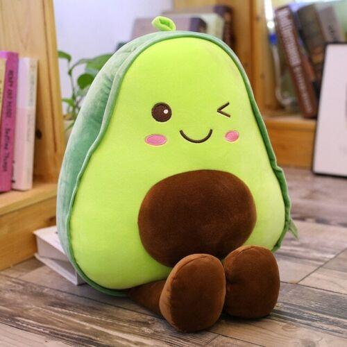 Cute Smiling Avocado Stuffed Plush Toy Super Soft Cushion Pillow Child Gift NEW
