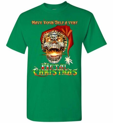 Skull Santa Heavy Metal Christmas Holiday Shirt Glidan s 5xl Unisex Funny