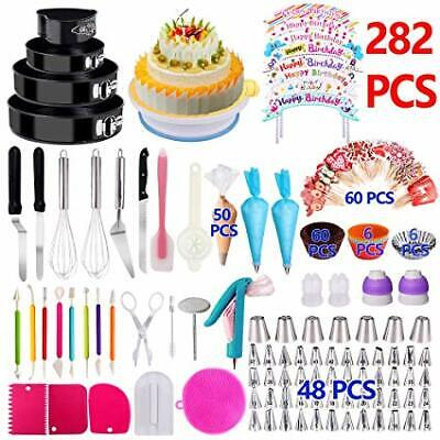 Complete 282PCS Cake Decorating Baking Set Supplies with ...