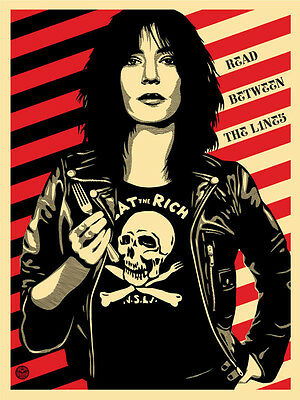 SOUGHT-AFTER! SHEPARD FAIREY Obey - Eat The Rich 2012 PATTI SMITH S/N Art Print