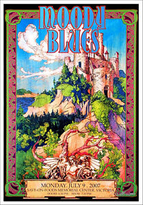 Moody-Blues-Poster-Victoria-BC-2007-Gorgeous-Orig-Hand-Signed-Litho-by-Bob-Masse