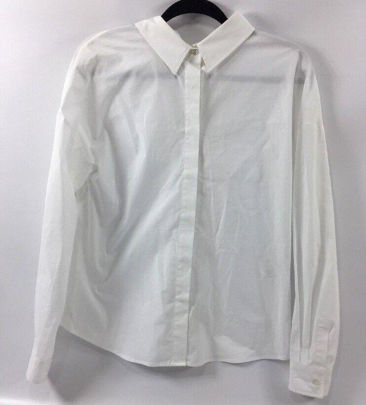 MSGM Woherren Weiß Shirt, Back Bow and Cut Out Detail, Größe IT38     XS