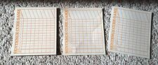 1971 Scrabble Word Sentence Cube Game Scoring Paper - 19 Pieces - Fast Ship!