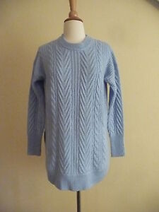 c1a2051e3fb62d NEW J.CREW TUNIC CABLE-KNIT SWEATER, F8549, HEATHER BLUE, SIZE XL ...