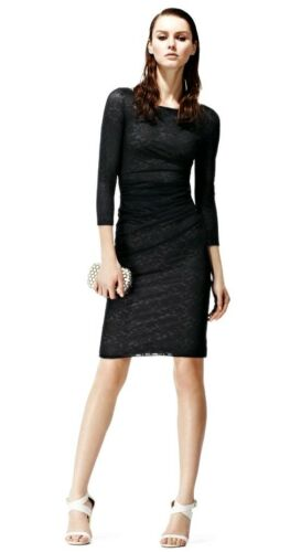 new Fernanda Length With 8 Designer Size Reiss Overlay Tags Lace Dress Knee P55w0x6T