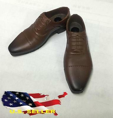 """1//6 Brown Color Shoes For James Bond For 12/"""" Hot Toys PHICEN Male Figure ❶USA❶"""