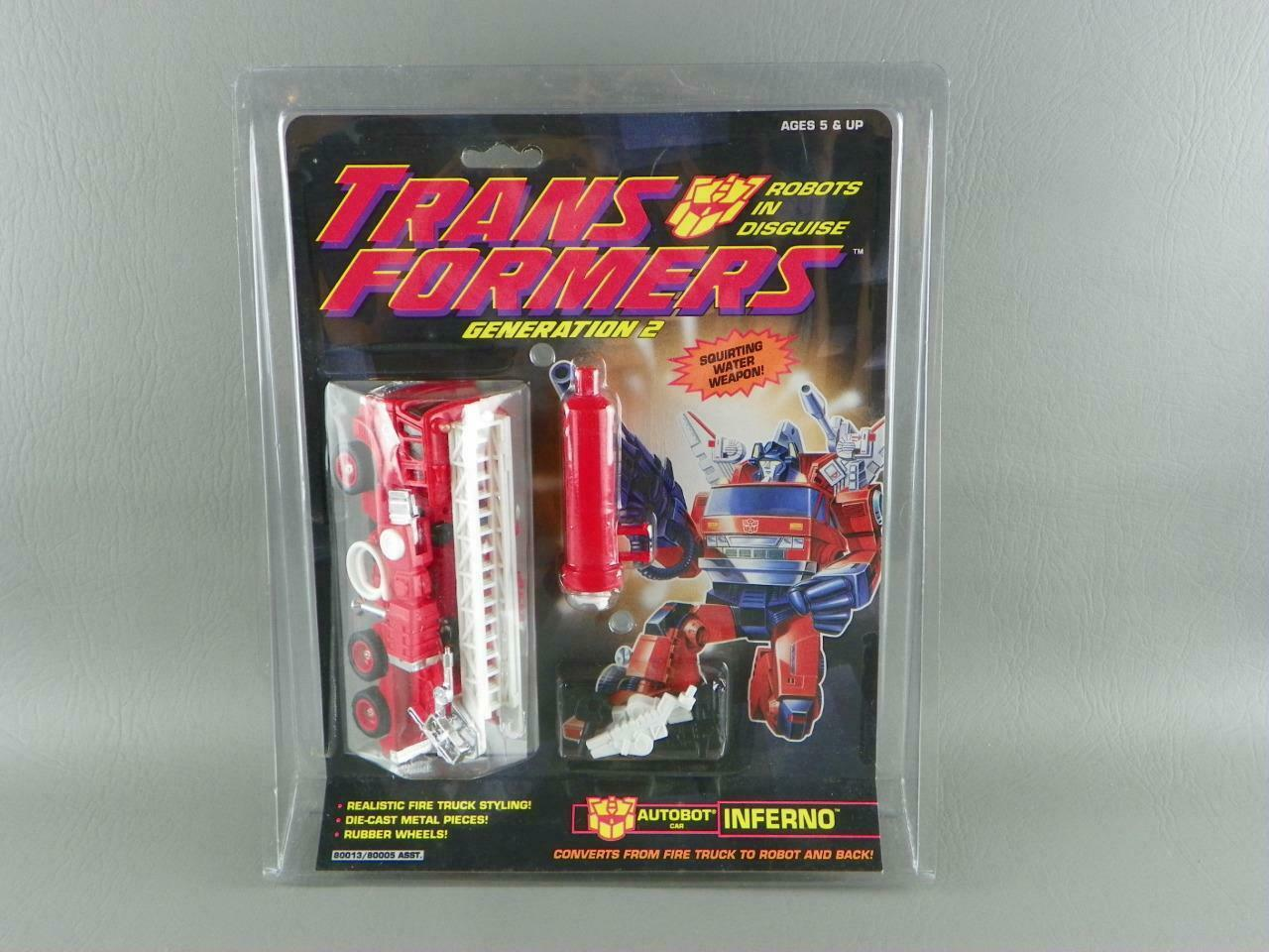 TRANSFORMERS Hasbro Vintage 1993 G2 Generation 2 Autobot INFERNO Sealed NEW Exc