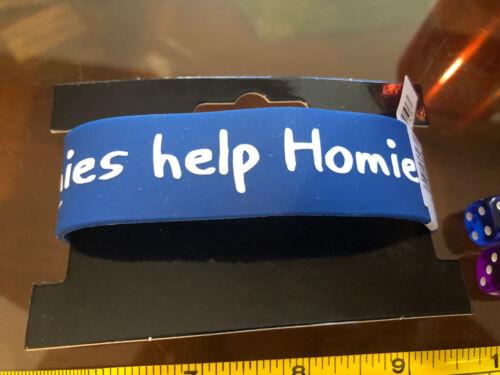 Hora De Aventura Brazalete Collar de goma oficial nuevo azul ayuda Homies