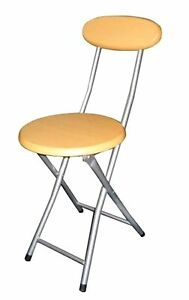 Folding Breakfast Chair Bar Kitchen Stool High Chair With Back Rest Beechwood