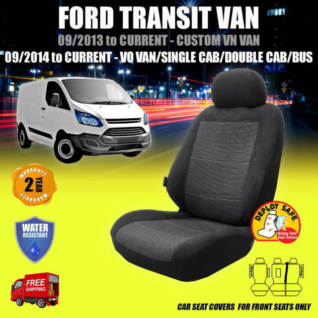 Car Seat Covers For FORD TRANSIT VAN - 09/23 to CURRENT - Aribag Safe!!