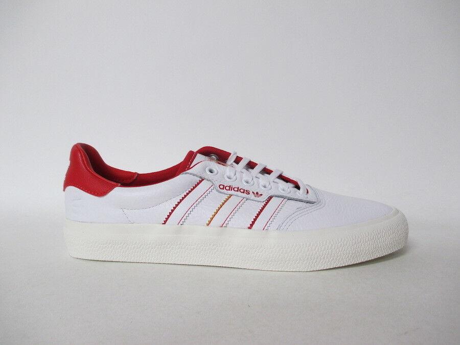 Adidas 3MC X Evisen White Scarlet Red Cream Sole Sz 12 DB3506