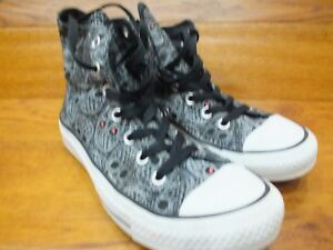 Details zu Converse CT All Star Skull Patterned Canvas Hi Top Casual Trainers UK 5 EU 37.5