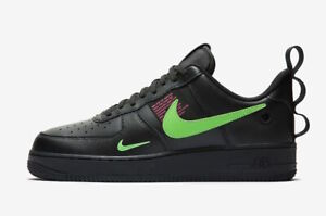 Details zu NIKE AIR FORCE 1 LV8 UL UTILITY * BLACK HYPER PINK SCREAM GREEN * UK 10, 11