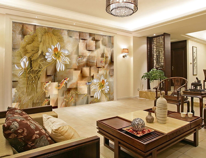 3D Marmor Blumen 58 Tapete Tapeten Mauer Foto Familie Tapete Wandgemälde Summer