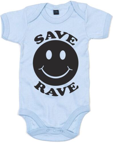 Save Rave Kid/'s Printed Baby Grow
