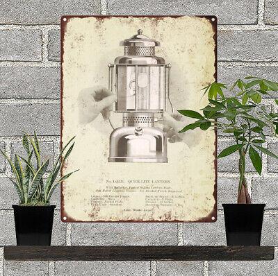 1928 Coleman Lantern Lamp Camp Stove Christmas Ad Metal Repro Sign 9 x 12 60124