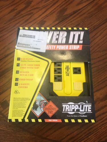 TRIPP LITE 8 OUTLET Power Strip 15ft Long Cord Plug Wall Mount Hang Clip Holes