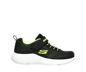 Dettagli su Scarpa Skechers Bambino Sportiva Sneaker Bounder Zallow 98302L nero Memory Foam
