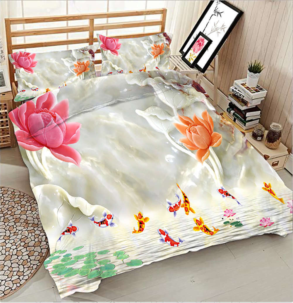 Jumpping Snapper 3D Printing Duvet Quilt Doona Covers Pillow Case Bedding Sets